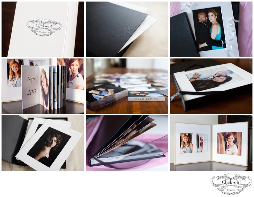 photo books, portfolio boxes, portrait folios