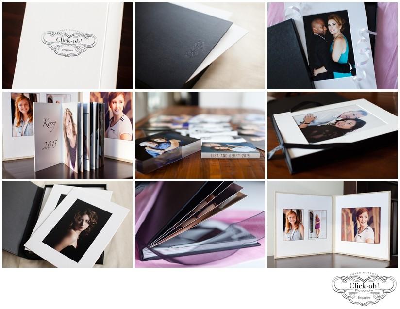 photo books, portfolio boxes, portrait folios