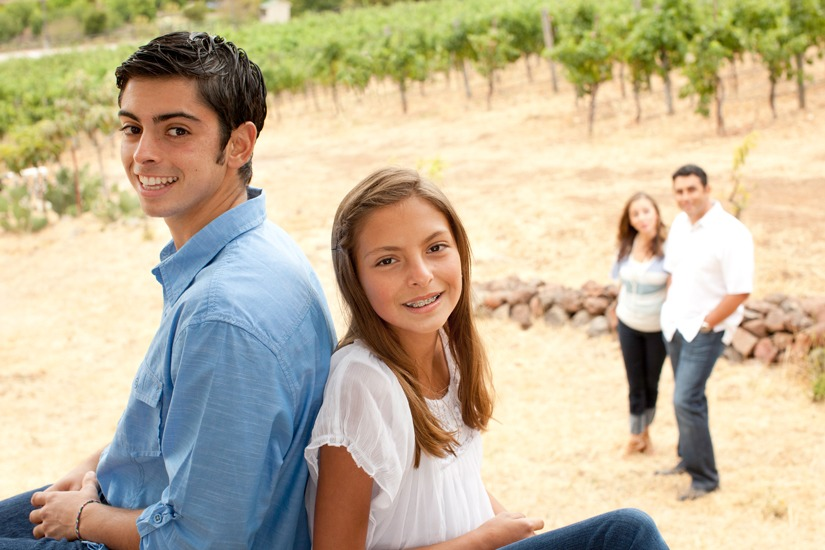 Family Photo Shoot at Arrowood Winery