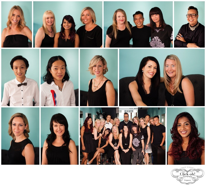corporate head shots of staff at Expat Hair Studio