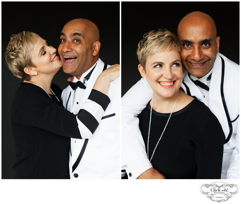 couple wearing black and white in couples photo session