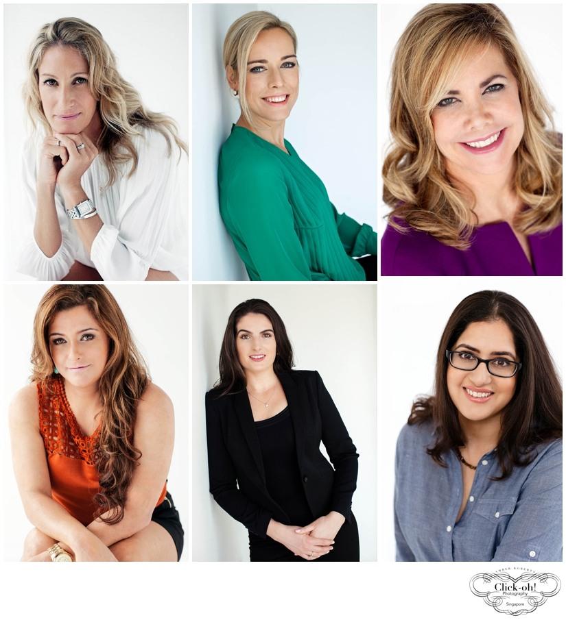 selection of elegant female professional headshots