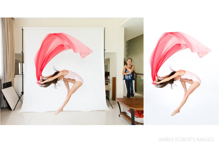 behind the scenes of a modern dance photo shoot