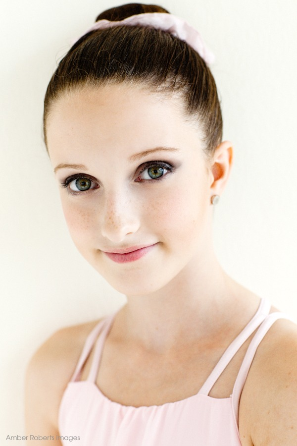head and shoulders portrait of young ballerina minneapolis