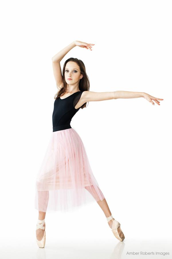 young ballerina on pointe
