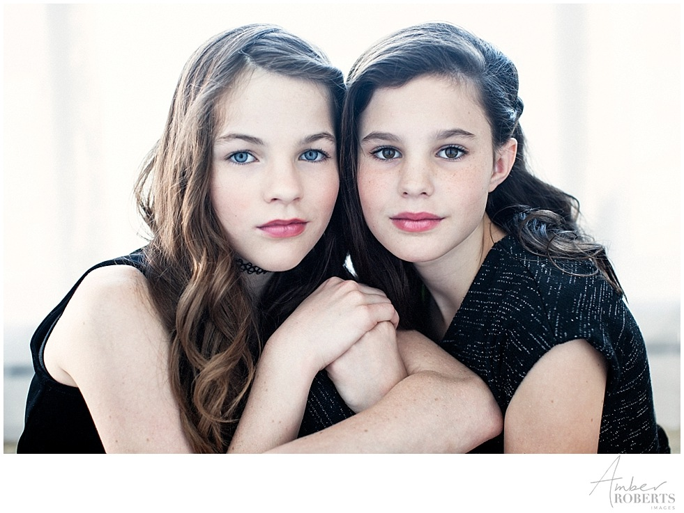 sisters together in vogue-style photo shoot